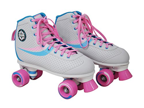 Nijdam Kinder Rollschuhe Disco weiß Rosa 34 35 36 37 38 39 40 41 in Top Design (35)