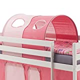 IDIMEX Tunnel MAX für Hochbett Rutschbett Spielbett Kinderbett, in pink/rosa