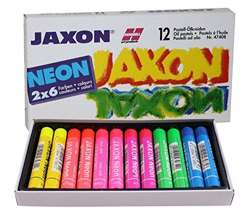 Jaxon 47408 Pastell Ölkreiden, 12er Pack, neonfarben