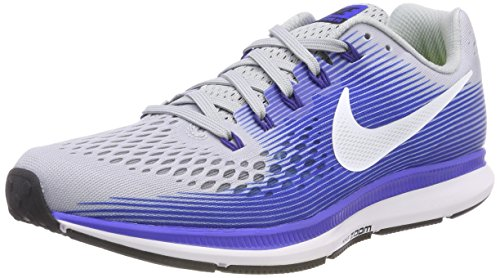 Nike Air Zoom Pegasus 34 (N), Zapatillas de Trail Running para Hombre, (Wolf Grey/White / Racer Blue 007), 44.5 EU