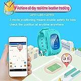 TKSTAR bambini Smartwatch GPS Tracker Kids orologio da polso telefono SIM anti-perso braccialetto SOS, controllo di  iOS Android Smartphone Q50 Blue