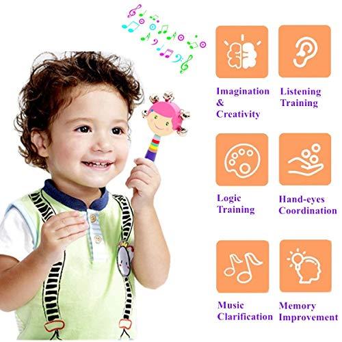 Pachock 23PCS Instrument de Musique pour Enfant, Les Enfants d'âge Préscolaire et Les Bébés Instruments de Percussion en Bois et Instruments avec Sac de Transport Img 1 Zoom