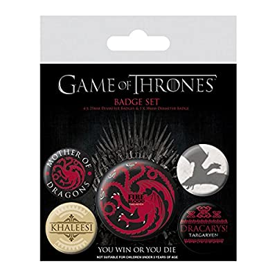 Game of Thrones - Fire and Blood Badge Pack, x cm, 3 x 38 mm + 4 x 25 mm cm