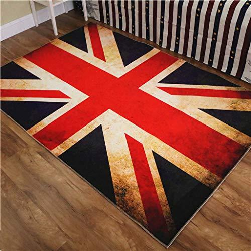 LongYu Anti-Rutsch-Matte Banner Rot, Blau und Weiß Haushalt Teppich 3D Teppich Tür Matte Schlafzimmer Halle Wohnzimmer Fuß Pad Rechteck (Color : B, Size : 80 * 120cm)