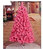 Gowe Dekoration Ornaments Baum Weihnachtsbaum Tannenbaum künstlich Weihnachtsbaum Weihnachten PVC Pink Dick Blatt Ornaments 1,5m