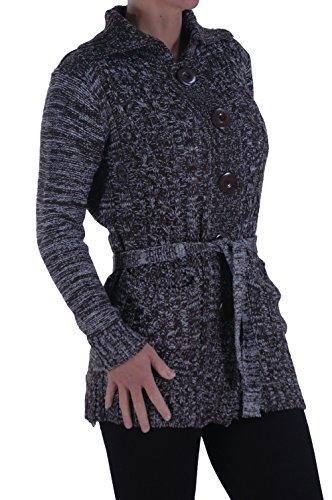 EyeCatch - Gilet cardigan manches longues - Femme - Taille unique Noir