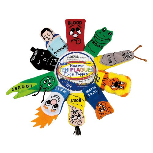 Rite Lite rite-lite Judaic Plush Passover finger Puppets, set di 10