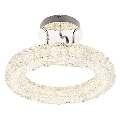 Luxus Decken Lampe LED Kristalle Leuchte Beleuchtung Chrom 3 Stufen Wandschalter Globo 15686D