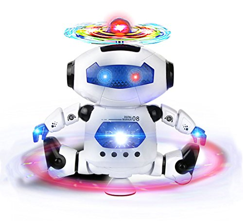 Webby Dancing Robot with 3D Lights and Music, Multi Color