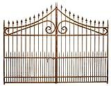 Cancello in ferro pieno 348x270h cm