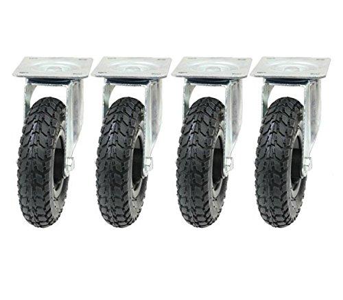 """4 - 8 """"inch 200mm ruedas neumáticas ruedas giratorias (200x50) infladas bombeadas"""
