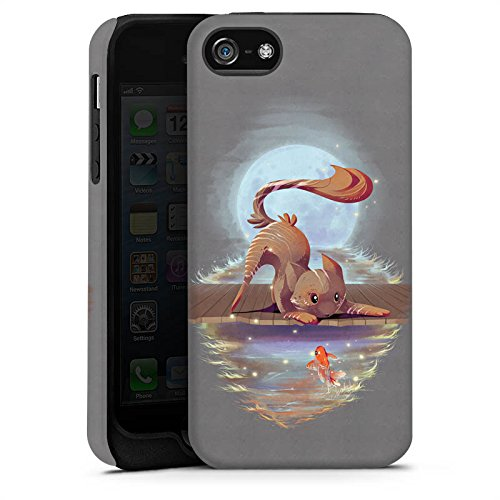 Apple iPhone X Silikon Hülle Case Schutzhülle Fuchs Braun Süß Tough Case matt