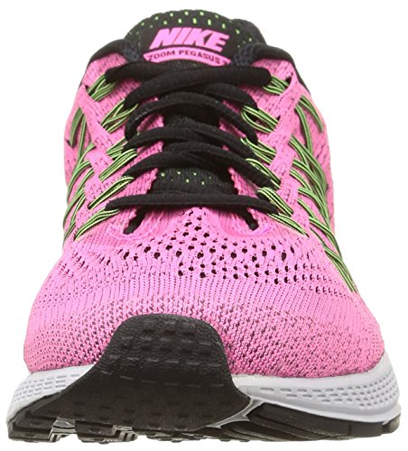 Nike - W Air Zoom Pegasus 32 (W) - , homme, multicolore (pink pow/blk-brly vlt-ghst grn), taille pink