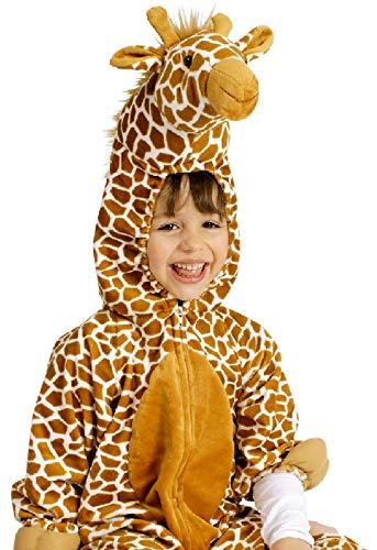 narrenkiste K332539-98-104-A beige Kinder Giraffen Kostüm-Overall ()