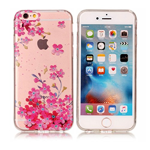 iPhone 6s Custodia, [Materiale flessibile TPU Gel trasparente del silicone Grip sottile e leggero ] Copertura iPhone 6S/6 Case 4.7, Shock Proof [ Cartoon Ananas ] # # 2