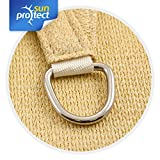 sunprotect SPT83216 'professional' Sonnensegel, 3,5 x 4,5 m, Rechteck, beige (1 Stück) - 3