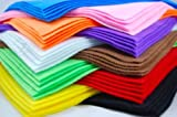 10 Felt Fabric Sheets, Various Colours, A4 size