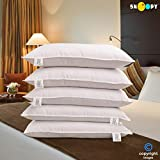 Snoopy Reliance Fibre Filled 5 Piece Pillow Set - 17' x 27', Antique White