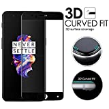 #9: Febelo (TM) Pro HD+ Crystal Clear 9H Full Screen Coverage Tempered Glass Screen Protector For One Plus 5 - Black Border