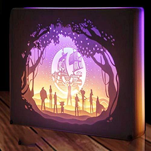Paper Carving Lights Light Dreidimensionale Silhouette Geschnitzte Tischlampe Nachtdekoration Geschenk,Dekorative Paper Carving Lampe, Nachtlampe Kreative Shadow Box Cut Light Box Warme, -