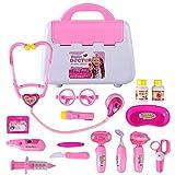 Rolanli Arztkoffer Kinder, 15 Stück Emulational Medizinisches Spielzeug für Kinder Rollenspiele