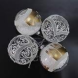 59347a5cf5e Warmiehomy 4 x Adornos para el árbol de Navidad Bolas rellenables Adornos  de Cristal Colgante Fiesta