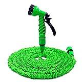Deluxe erweiterbarer Gartenschlauch, der nicht knickt, passt auf gewöhnliche Anschlüsse, geeignet als Verbindung zwischen Druckreiniger und Hahn, professionelle Sprühpistole, Gartenwasser-Sprinklerschlauch, Auto-Waschdüse, dehnbar (7,6 / 15,2 / 23 / 30,5 m)