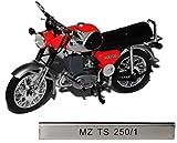 MZ TS 250/1 Rot DDR Atlas Collection 1/24 Modellcarsonline Modell Motorrad mit individiuellem Wunschkennzeichen