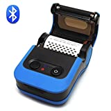 [Update 2.0] 2 in 1 Bluetooth 4.0 Portable 58mm Thermische Etikettendrucker/MUNBYN Thermal Drucker für Wireless Tickets und Quittungen (100 mm/s, Kompatibel mit Windows/Android), Blau