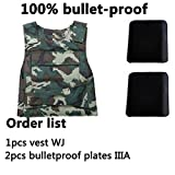 Elvy 1vestIIIA, XL : CCGK Bulletproof Vest IV Level Tactical Vest High Meng