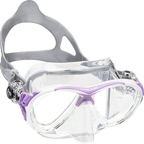 Cressi Tauchmaske Eyes Evolution Crystal, clear/lilla, DS350041