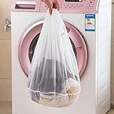 Fygrend - Praktische Waschmaschine Gebraucht Ineinander Greifen-Netz-Taschen Wäschesack Mesh Wäschesack Verdickte Kleidung Bra Unterwäsche Schutz Wäschebeutel [M 2PC]