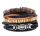 L&H 6-Teiliges Armband Perlen DIY Armband Verstellbaren Leder Handgefertigten Schmuck Für Jungen und Mädchen