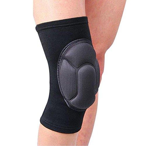 RDJM Rodillera almohadillas, (1Pair) Esponja gruesa Anti-colisión rodillas Rodillera soporte para al aire libre, escalada y deportes , black