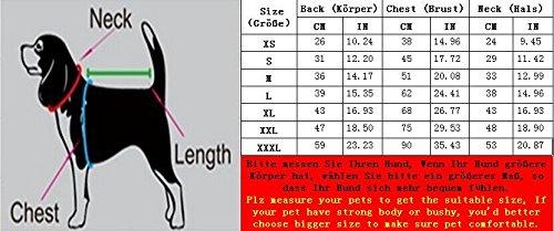 SUPEREX® Pet Dog Coat Jacket Hund costüm wasserdicht Hundepullover Hundemantel, Regenjacke Regenmantel Winterjacke Hundebekleidung Hundejacke winter Warm Wintermantel Hundemantel für kleine mittlere große Hunde (Schwarz, XXXL) - 2