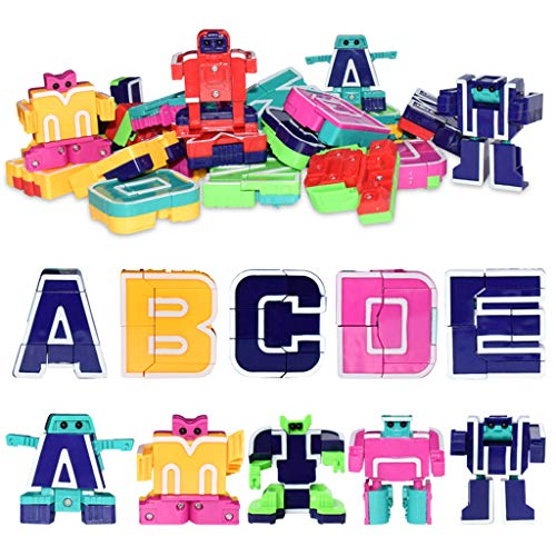 zeug, 26pcs englische Buchstaben Roboter Verformung Alphabet Transformation Roboter Puzzle ()