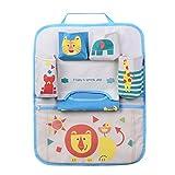HomDsim Cartoon Autositz Zurück Organizer Aufbewahrungsbeutel Hängen Auto Organizer Taschen Tasche für Kinder Kinder (Lion)