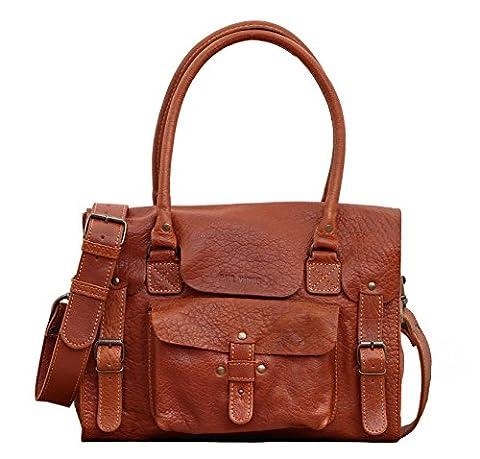 LE RIVE GAUCHE M Naturel sac bandoulière cuir style vintage PAUL MARIUS