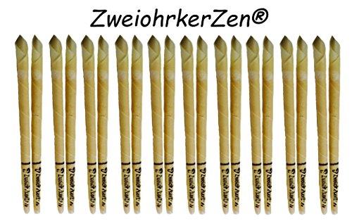 20 Stück Ohrenkerzen/Ohrkerzen Konisch der Marke ZweiohrkerZen mit Filter innenliegend und Abbrennmarkierung - (20 Stück = 10x 2er Set) - inkl. Anleitung als Video auf youtube