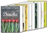 10er-Set: Postkarten A6 +++ MIX SET Nr. 1 von modern times +++ 10 schöne DANKE-Motive +++
