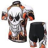 Baymate Herren Radbekleidung Set Kurzarm Fahrradtrikot T-shirt für Radsport mit Hosen