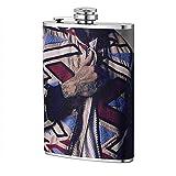 Portable 8OZ Hip Flask Pocket Flagon -Chris Brown Flat Liquor Flask