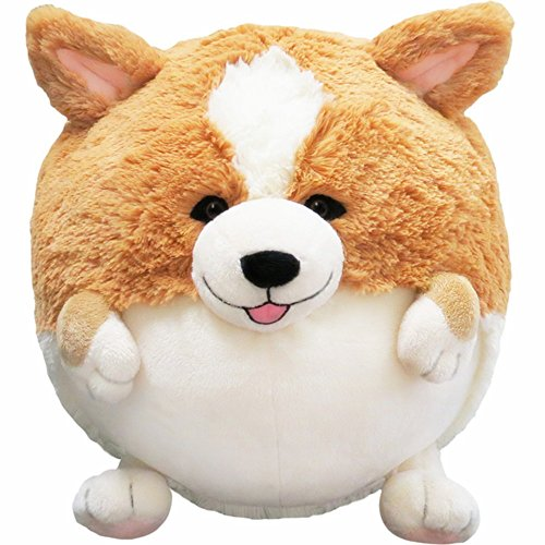 Image of Pillow Pets Puppy Lovely Corgi Shaped Cushion Round Stuffed Plush Soft Toys Doll Car Sofa Chair Seat Cushions (30 cm)