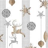 Ambiente Servietten Lunch / Party / ca. 33x33cm Christmas Wooden Ornaments - Weihnachten -Holzverzierungen