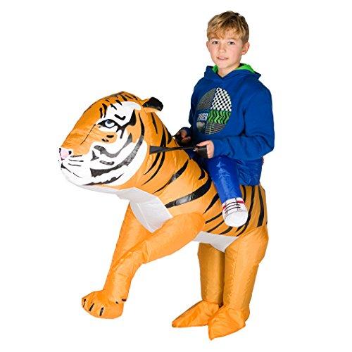 Kinder Tiger Kostüm - Bodysocks® Aufblasbares Tiger Kostüm für Kinder