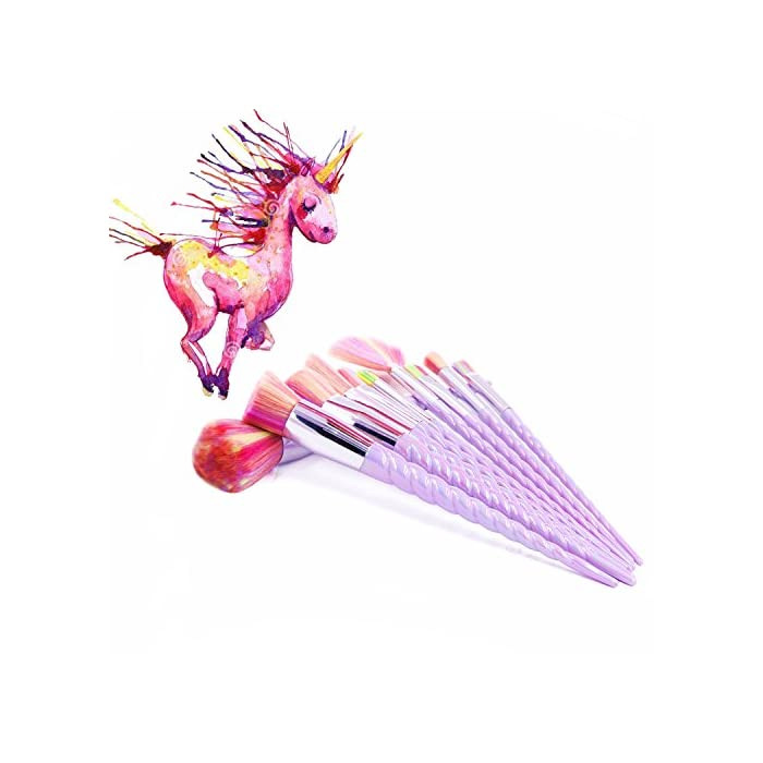 Make up Pinsel Set 16 Pcs Unicorn Professionelle Makeup Pinselset Synthetische Foundation Foundation Rouge Lidschatten…