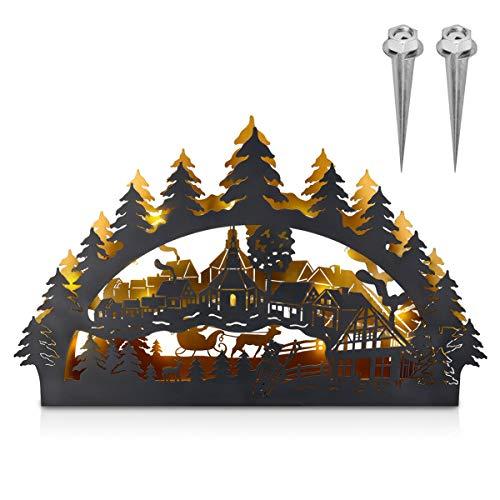 Navaris Arco de Navidad LED - Decoración de Navidad de Metal -...