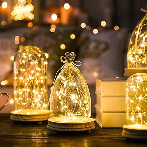 LED-Lichterketten, APICI 5M 50 LED Kupferdraht Lichterkette außerhalb Licht Bend Warmweiße Weihnachtsdekoration Batteriebetrieb für Party, Hochzeit, Weihnachtsbaum, Zimmer, Feier, Festival