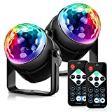 ACCEWIT Disco Lights, Sound Activated Stage Lights for Party & DJ, 7 Lighting
