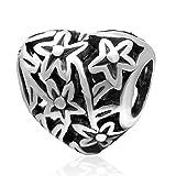 Sandcastle Charm Baum des Wishing Star Love Herz 925Sterling Silber Charm für europäische Armbänder Charms by Mother 's Day Gifts Schmuck